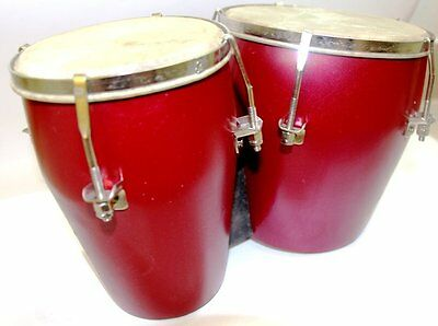 AFRO CUBAN Handmade Bongo Drum HEAVY MATERIAL GOOD FOR RELAXATION AND ENJOY