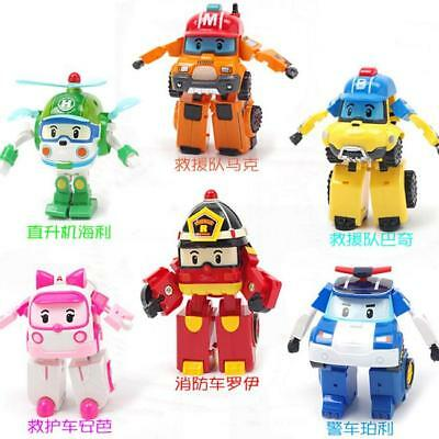 Robocar Poli Robot Car Plane Figures Transformer Toy Kids Children Gifts FW