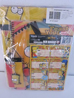 The Simpson/Bart Stationery Gift Set...Complete ..New