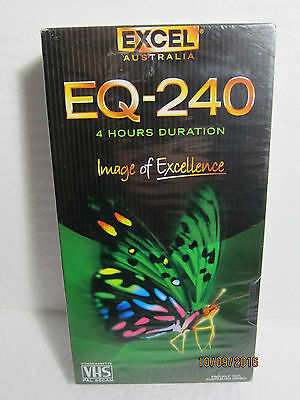 Blank Excel EQ-240, 4 Hour VHS Tape Brand New & Sealed