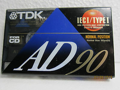 Vintage TDK AD 90 Audio Cassette Tape  NEW
