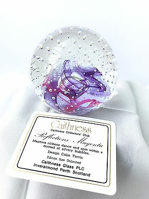 Caithness Glass Collectors Club Paperweight - 1990