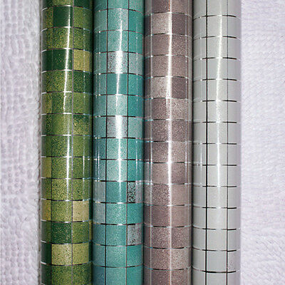 Mosaic Aluminum Foil Contact Paper Wall Sticker Bathroom Kitchen Tile Backsplash