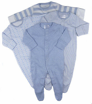 Baby Boys 4 Pack Sleepsuits Ex Store N*xt Soft Cotton Jersey 12-18 Months only