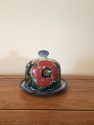 Highland Stoneware Cheese Dome/Dish - Poppy Design