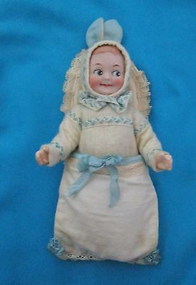 Antique christening baby Rabbit -Easter bunny Googly boy doll/A.M./Germany