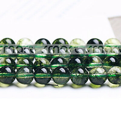 """Synthetic Chlorite Cracked Crystal Round Loose Beads 15.5"""" Inches Strand"""