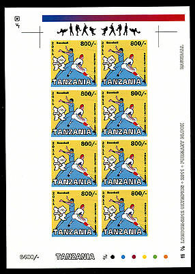 Tanzania 2011 Sheet Mng Baseball London Olympic Games Jeux Olympiques Sports