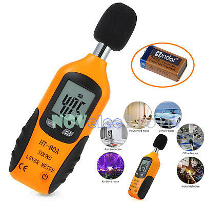 LCD Digital Sound Level Noise Meter Decibel Pressure Monitor DB Measure Tester