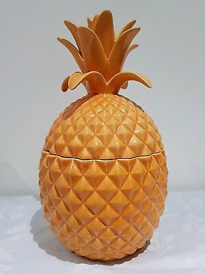 VTG Large PINEAPPLE Vase & Lid Sculpture Decoration Ceramic Hand Made 28cm-11in