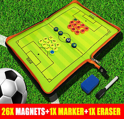 Magnetic Coaching Training Board Tactical Tactic Folder Soccer Football Kit Hot