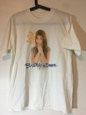 Britney Spears 1999 Baby One More Time Promo Shirt Sz: L Cute Young Britney Pic