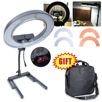AU 40W 34cm 13'' Dimmable Diva LED Ring Light + Color Filter and Table Stand Kit