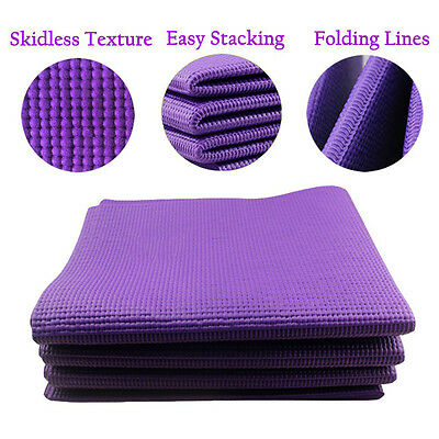 Yoga Mat Non Slip Fordable - Best for Yoga Workout Exercise Gym Mat for Travel
