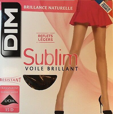 DIM Lot de deux collants Sublim Voile brillant noir 15 deniers - Taille 3