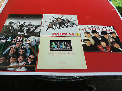 "4 x Madness vinyl lps Complete Madness 7 Rise and Fall First Album & 12"" Our Hou"