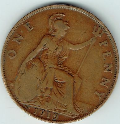 George V, One Penny 1919 KN, F, M4846