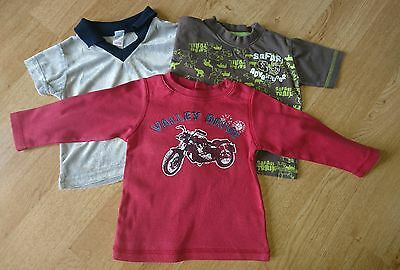 3 x Baby Boys Tops Age 6-12 Mths FREE UK DELIVERY