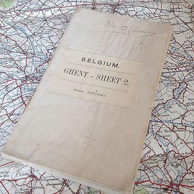 Rare Named & Early Ww1 Map British Officer France War Military Trench Medal Os