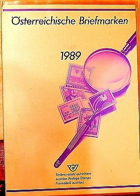 Austria 1989 complete year of MNH stamps in official album