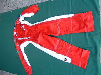 Lechler Red/White mechanic pit style overalls - New - Size XL