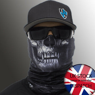 Original SA Face Shield / Skull Tech Crow / Buff Balaclava Bandana Neck Tube