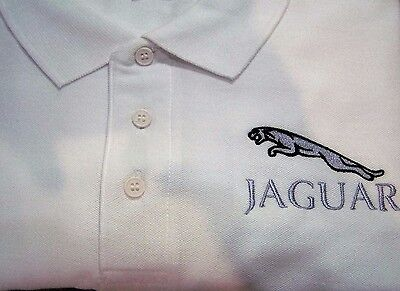 Polo shirt with Embroidered Jaguar design, can be Personalised with name.