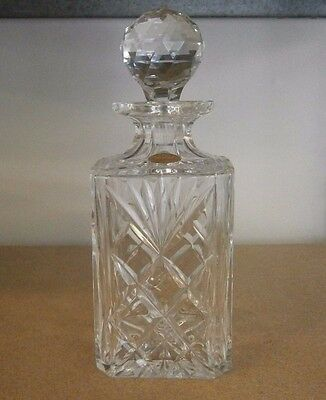 Royal Brierley Decanter Crystal Cut Glass Drinking Whiskey Port
