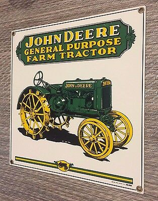Vintage John Deere General Purpose Farm Tractor 1995 Ande Rooney Old Porcelain