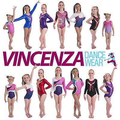 Girls Show Gymnastic Gym Leotards for Competition Dancewear, Gym and Dance Shows