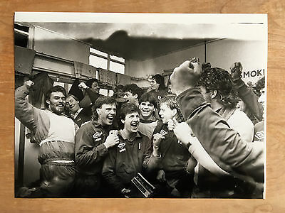 York City FC press photo drawn against Liverpool in cup 1985.