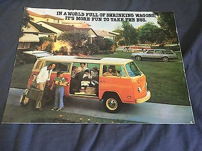 1979 VW Volkswagen Bus Westfalia Campmobile USA Market Brochure Catalog Prospekt
