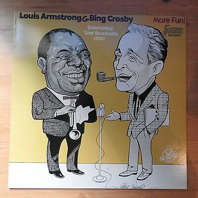 Louis Armstrong and Bing Crosby - More Fun!  LP vinyl (1983)  Ex/Ex