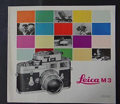 Catalogue appareil photo LEICA M3 caméra catalog Katalog