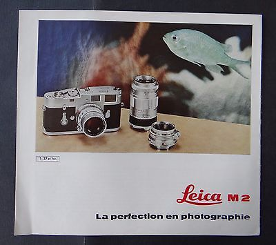 Catalogue appareil photo LEICA M2 caméra catalog Katalog