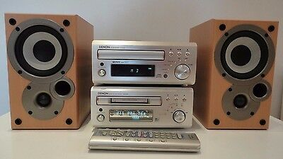 Denon UD-M30 CD,Tuner,Amp + DMD-M30 Mini Disc Player Recorder + Speakers+ Remote
