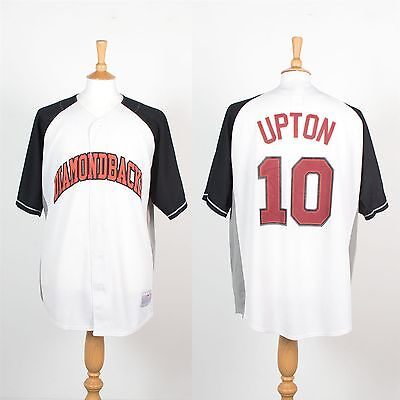 Arizona Diamondbacks Mlb Baseball Jersey Shirt Vintage Retro Upton # 10 Xl