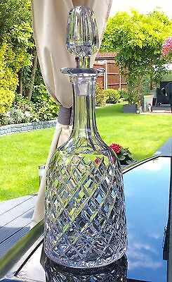 Royal Brierley Fine English Hand Cut Crystal Decanter,Signed.