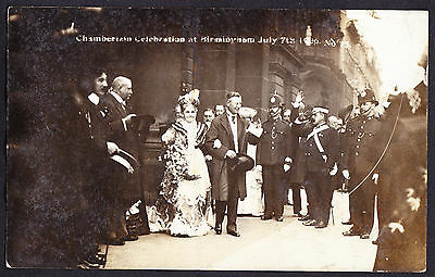 Chamberlain Opposition Leader Celebration Birmingham 1906 RP Real Photo Postcard