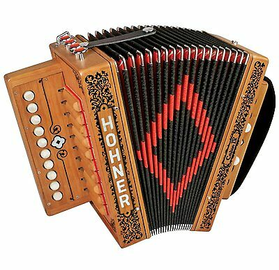New Hohner CAJUN IV 10 Button One Row Cajun Accordion LMMH Key of C