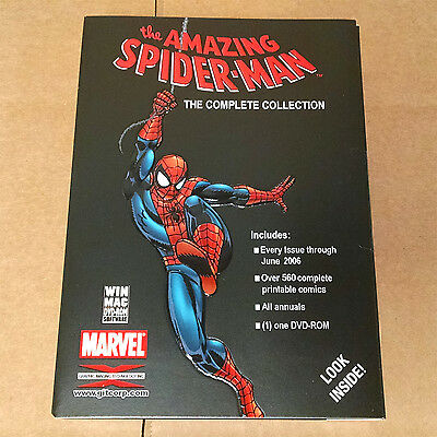 Amazing Spider-Man Complete Collection DVD-ROM GIT CORP 560+ Marvel Comic Books