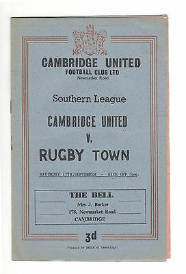 Cambridge United v Rugby Town 1960 - 1961  Southern League