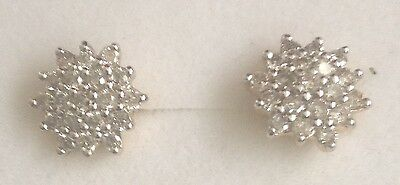 Beautiful Half Carat Diamond Cluster Stud Earrings in 18K Gold - Full Hallmarks