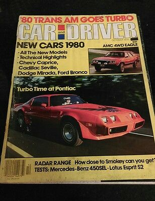 Car and Driver magazine October 1979
