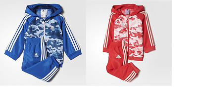 Adidas Baby Kids Boys Girls Toddler Tracksuit Set Play Gym Polyester New Hooded