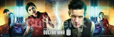 Doctor Who All Eleven Doctors Silhouettes 11.75 x 36 Horizontal Poster NEW