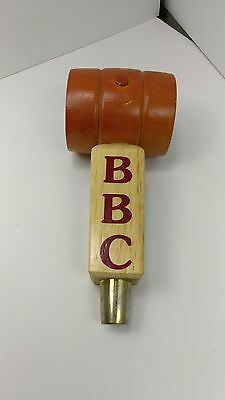 Berkshire Brewing Company Beer Tap Handle Draft BBC Mancave Wood Keg Cask