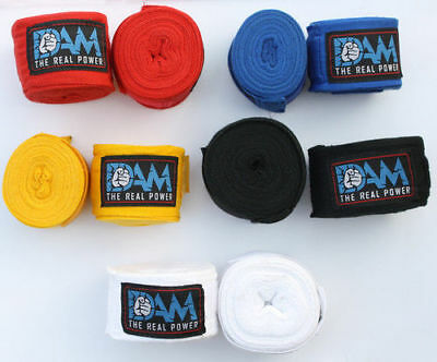 DAM 3 Pair of Hand Wraps Boxing MMA UFC HAND WRAPS Wrist Guards Inner Bandages