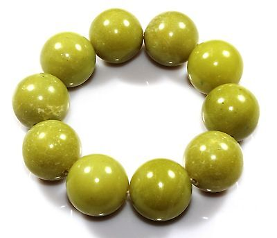20 MM Natural Jade Bracelet Ct 510.95 Armband stone Fathers Day Gifts offer Sale
