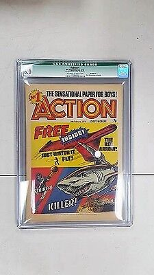Action Comic #1 1976 Pre/ban Very Rare Cgc 6.0 Qualified No Free Gift British